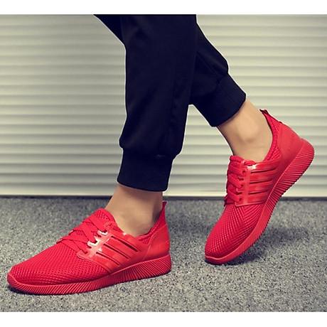 Giày thể thao cặp đôi nam nữ buộc dây C95 đỏ 8