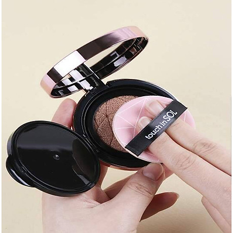 COMBO 2 Phấn Nước Touch-In-Sol Pretty Filler Glam Beam Cover Cushion + Tặng 1 son kem lì touch in sol 3