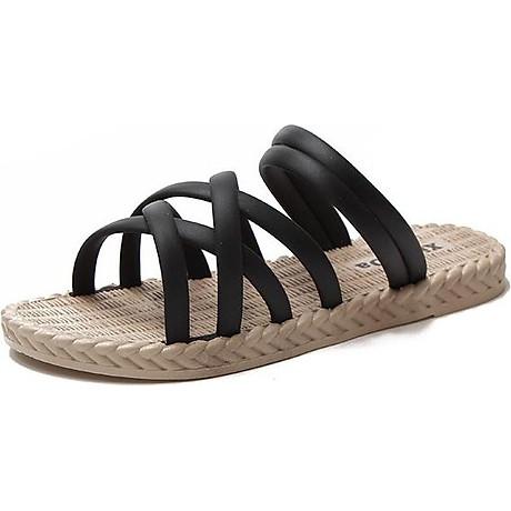 Dép sandal nữ quai chéo đế giả cói vintage siêu mềm êm chân CS1 5