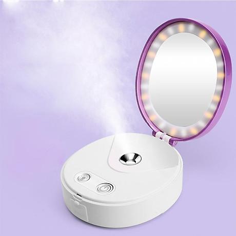 Gương trang điểm Beauty Mirror đa chức năng kết hợp phun sương nano + đèn LED + sạc dự phòng 1