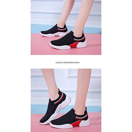 Giày thể thao SNEAKER cổ chun, kiểu dáng siêu đẹp cho nữ - SB75 5