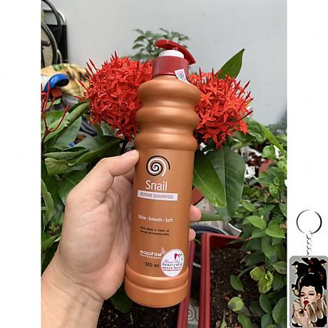 Dầu Gội Siêu Phục Hồi & Lưu Hương Sophia Profesional Snail Repair Shampoo Hàn Quốc 500ml tặng kèm móc khoá 2