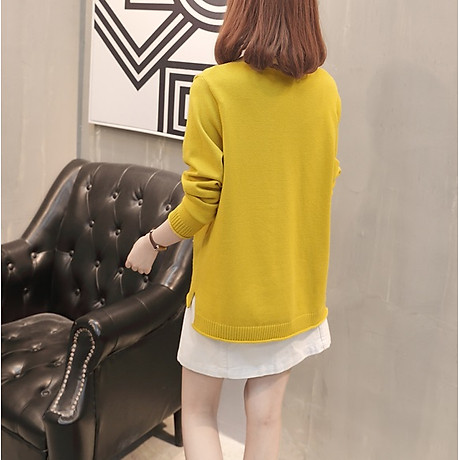 Áo cardigan len nữ 2 túi trước thời trang phong cách Hàn Quốc DV15 5