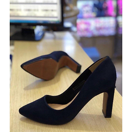 giày cao gót da lộn 7cm 1