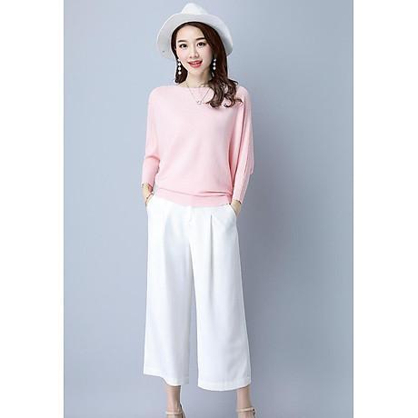 Áo len nữ cánh dơi thời trang Hàn Quốc 1