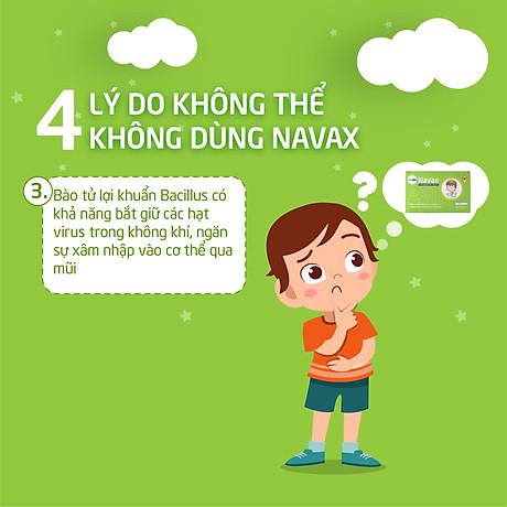 Bào tử lợi khuẩn Livespo Navax xịt tai mũi họng kháng viêm, diệt khuẩn hộp 1 xịt kèm 1 ống cho trẻ 4