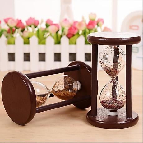 Đồng hồ cát khung gỗ để bàn trang trí 1