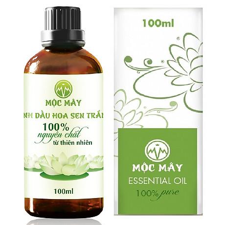 Tinh dầu hoa Sen Trắng 100ml Mộc Mây - tinh dầu thiên nhiên nguyên chất 100% - chất lượng và mùi hương vượt trội - Có kiểm định 1