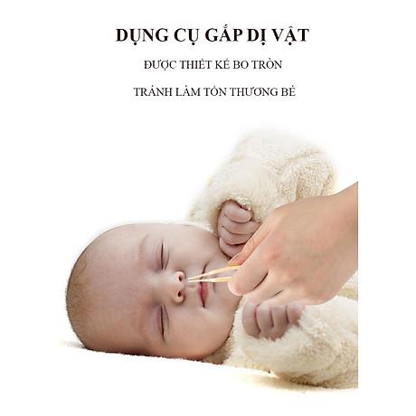 Bộ Dụng Cụ Chăm Sóc Móng Tay Chân Mũi Tai Cho Trẻ Sơ Sinh 4 Món ( Hộp Đựng Hình bầu dục) 2