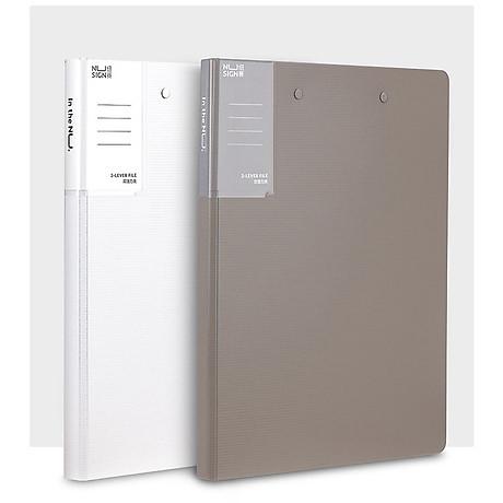 Xiaomi Nusign A4 Tệp Folder Độ dày 2.0MM Giá đỡ giấy tờ văn phòng với Bộ sắp xếp tệp kẹp bằng kim loại chắc chắn 2
