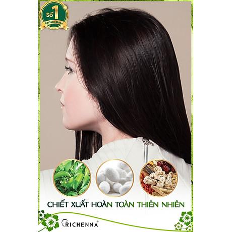 Combo 4 hộp Thuốc nhuộm tóc phủ bạc thảo dược Richenna Hàn Quốc màu nâu đen 3