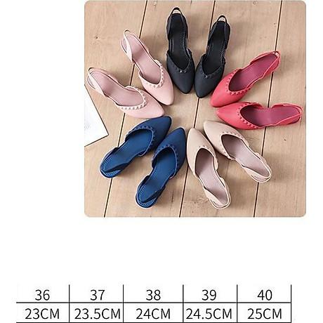 Giày nhựa đi mưa cao 3.5p, xăng đan phong cách Hàn Quốc màu đen, kem, hồng mẫu V192 5