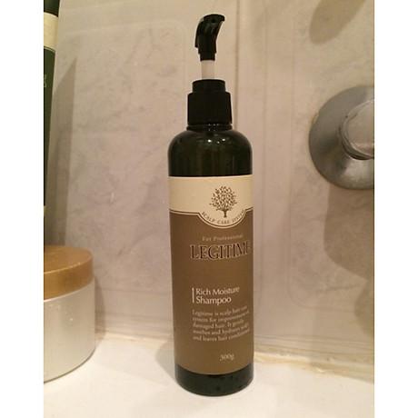 Dầu gội thảo dược Legitime Rich Moisture Shampoo sạch gàu Hàn Quốc 300ml Tặng Móc khóa 4