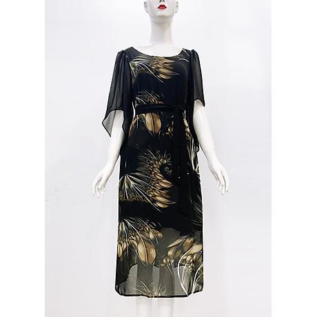 Đầm Suông BigSize In Hoa Lá Kiểu Đầm Suông Trung Niên Dự Tiệc Size Lớn ROMI 3269 2