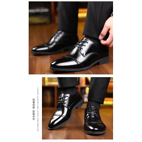 Giày da thật nam giày da nam cao cấp giày nam công sở sang trọng, phong cách thời trang giày da cao cấp giày nam mẫu mới mã 8867-A 3