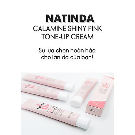 Kem nâng tông dưỡng da trắng hồng rạng rỡ - Natinda Calamine Shiny Pink Tone-Up Cream - 50g 2