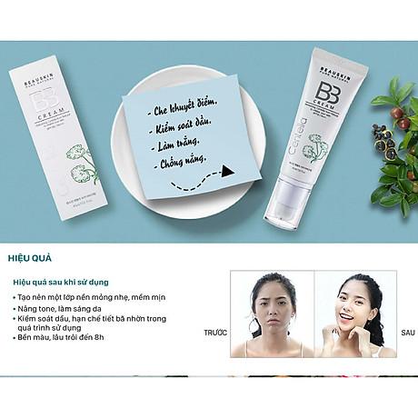 Kem nền kiểm soát dầu Beauskin Centella Cica BB Cream Hàn Quốc 45ml + Móc khóa 5