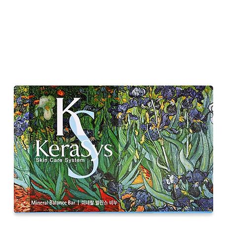 Xà bông tắm dưỡng da Kerasys Mineral Balance Bar Hàn Quốc 100g - Dành cho da dầu + Móc khoá 8