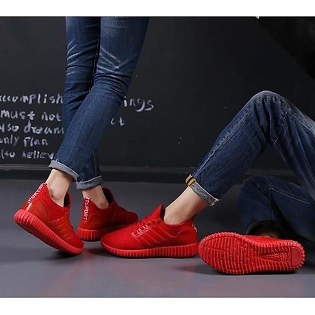Giày thể thao cặp đôi nam nữ buộc dây C95 đỏ 2