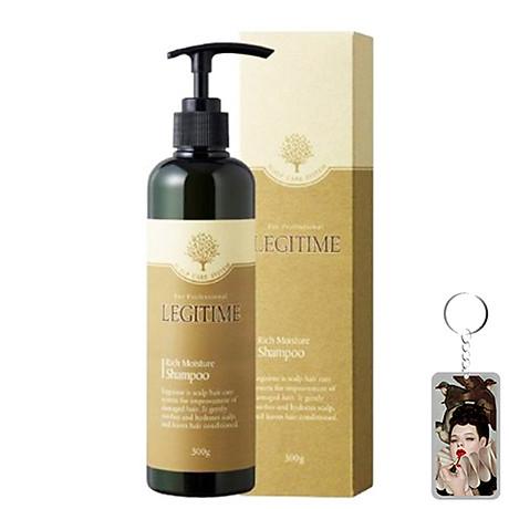 Dầu gội thảo dược Legitime Rich Moisture Shampoo sạch gàu Hàn Quốc 300ml Tặng Móc khóa 1