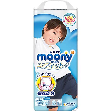 Tã Quần Cao Cấp Moony Nhật Bản Bé Trai XXL26 (26 Miếng) 1