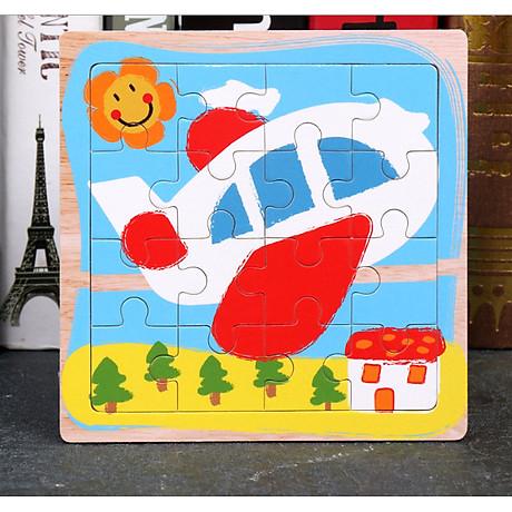 Combo Tranh ghép hình 16 miếng bằng gỗ cho bé tặng kèm bấm móng tay hình thú siêu dễ thương và tiện dụng 2
