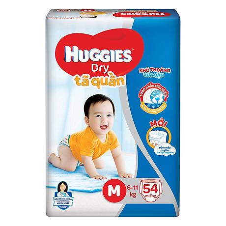 Tã Quần Huggies Dry Gói Đại M54 (54 Miếng) - Bao Bì Mới 1