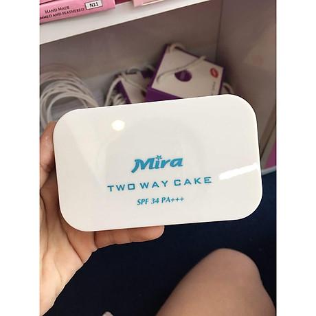 Phấn nén trang điểm siêu mịn Mira Two Way Cake Hàn Quốc 12g No.21 Cream Beige tặng kèm móc khoá 7