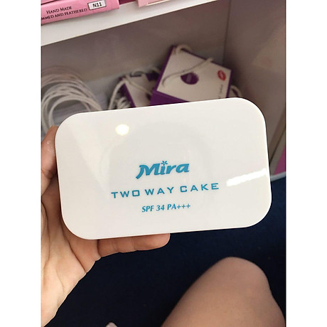 Phấn nén trang điểm siêu mịn Mira Two Way Cake Hàn Quốc 12g No.13 Bright Beige tặng kèm móc khoá 7