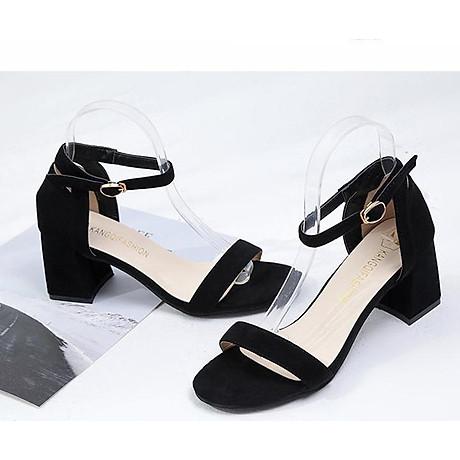 Giày Cao Gót Đế Vuông Quai Ngang Black 8