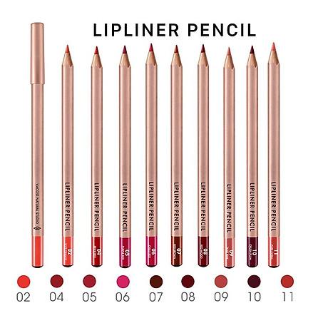 (BẢN MỚI) Chì Kẻ Viền Môi Vacosi Lipliner Pencil No.9 Dust Pink - Hồng Nude 2