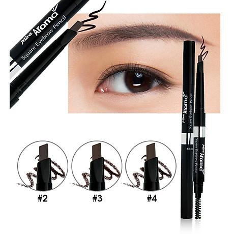 Chì mày định hình Mira Aroma Square Eyebrow Pencil No.2 tặng kèm móc khoá 3