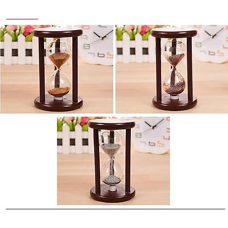 Đồng hồ cát khung gỗ để bàn trang trí 3