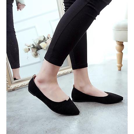 Giày đế bằng búp bê nữ da lộn full size nhiều màu V215 4
