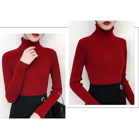 Áo len nữ cổ lọ ARCTIC HUNTER màu đỏ 2