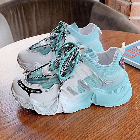 Giầy thể thao nữ Sneaker đế màu cực cá tính 2020 5