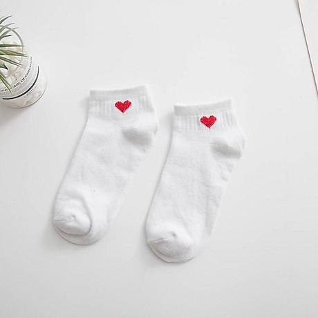 Tất vớ dành cho các bạn nữ họa tiết trái tim phong cách hàn quốc unisex TN07 4