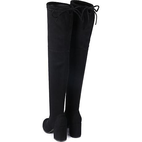 Giày bốt nữ cổ cao qua gối cao 6cm da lộn GCC1901 2