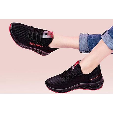Giầy sneaker nữ phong cách thể thao buộc dây 202 1