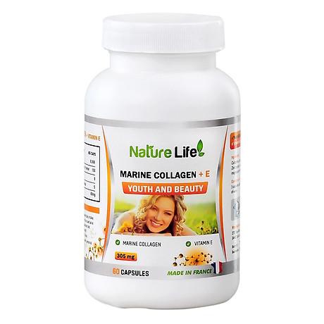 Viên Uống Marine Collagen +E Youth & Beauty NatureLife (60 viên) 1
