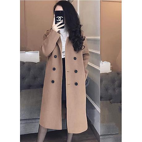 áo khoác dạ nữ dài 1