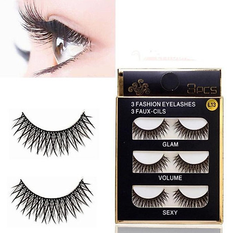 Lông mi chồn 3 Fashion Eyelashes 3 Faux (Dày mi L18) 1