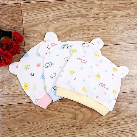 Combo 2 Mũ Che Thóp Cotton Mềm Cho Trẻ Sơ Sinh 0-6 Tháng - Họa Tiết Bé Gái 7