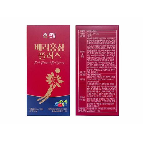 Nước Hồng Sâm Quả Mọng Cung Cấp Collagen Và Vitamin Berry Red Ginseng Plus 360g (12g x 30 gói) Hàng Nhập Khẩu Cao Cấp 5