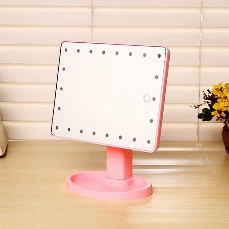 Gương Trang Điểm Đèn Led Để Bàn Hình Chữ Nhật 2