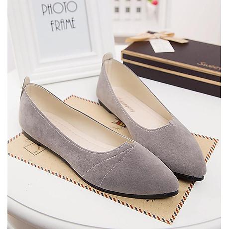 Giày đế bằng búp bê nữ da lộn full size nhiều màu V215 1