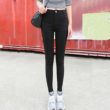 Quần legging nữ màu đen dễ phối đồ 1