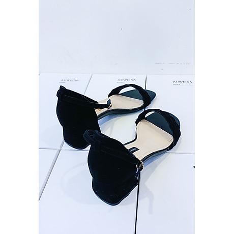 Giày Sandal Cao Gót Nữ Gót Vuông Quai Sóng 3