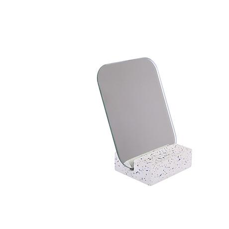Gương để bàn Monote Terazo kèm đế giữ gương màu đá cao cấp 4