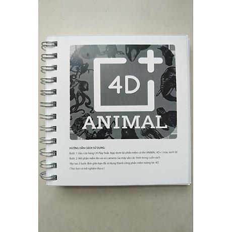 Bộ thẻ Animal 4D dạng sách tiện dụng 33 mẫu - Tăng khả năng sáng tạo học hỏi của trẻ 4